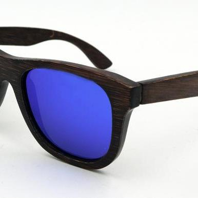 Brown Bamboo Frame Glasses UV Coati..