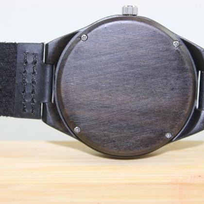 Black Wooden Bamboo Watch Fashion R..