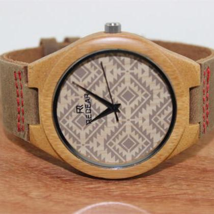 Fashion Lovers Wood Grain Dial Bamb..