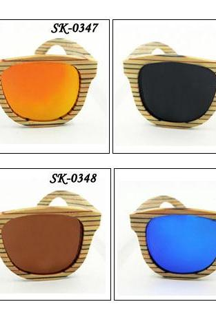 New Fashion Bamboo Sunglasses UV400 Polarized Glasses