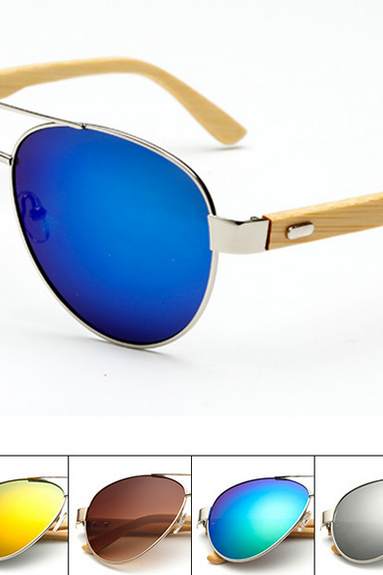 Fashion Riding Glasses Handmade Bamboo Leg Sunglasses UV400 Fishing Glasses